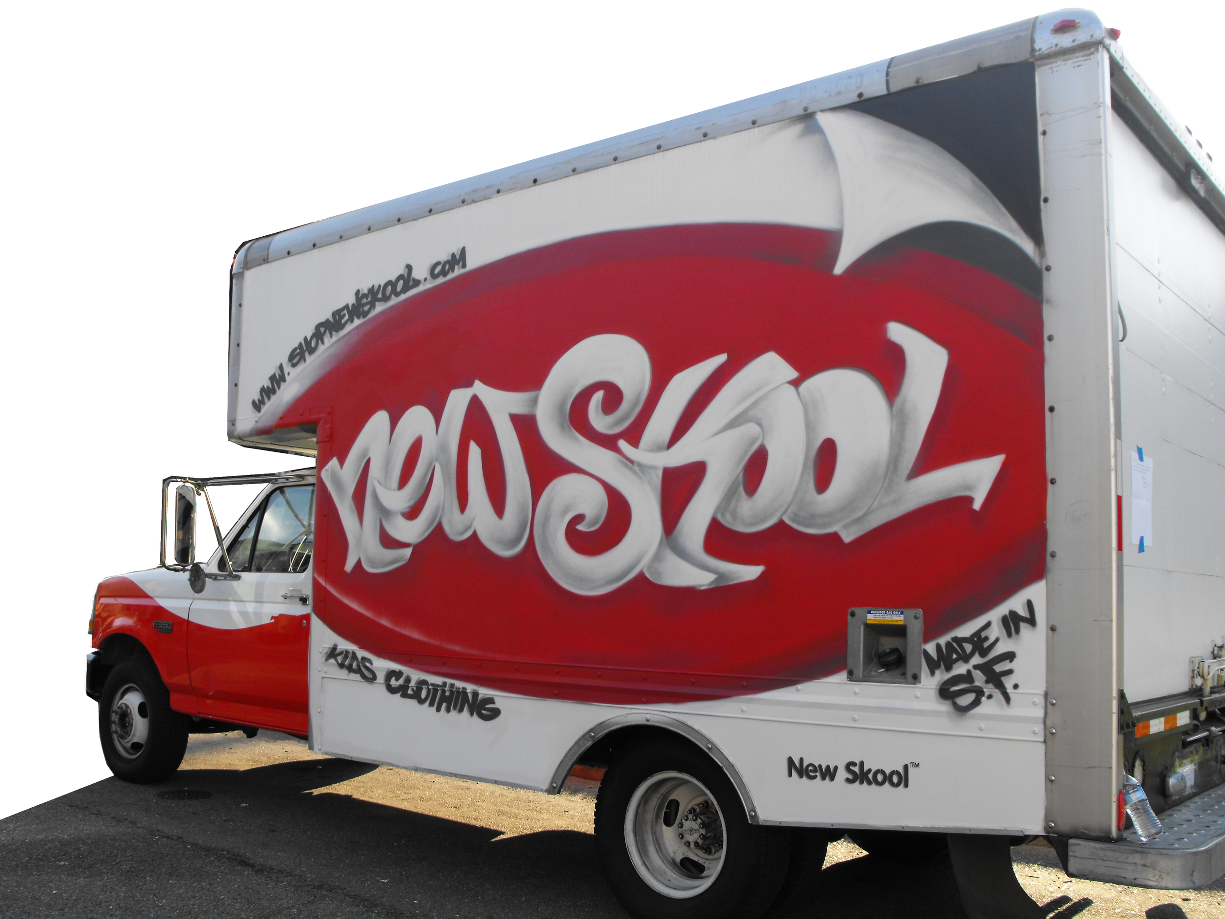 New Skool Promo Truck Shout Out CA Marketing