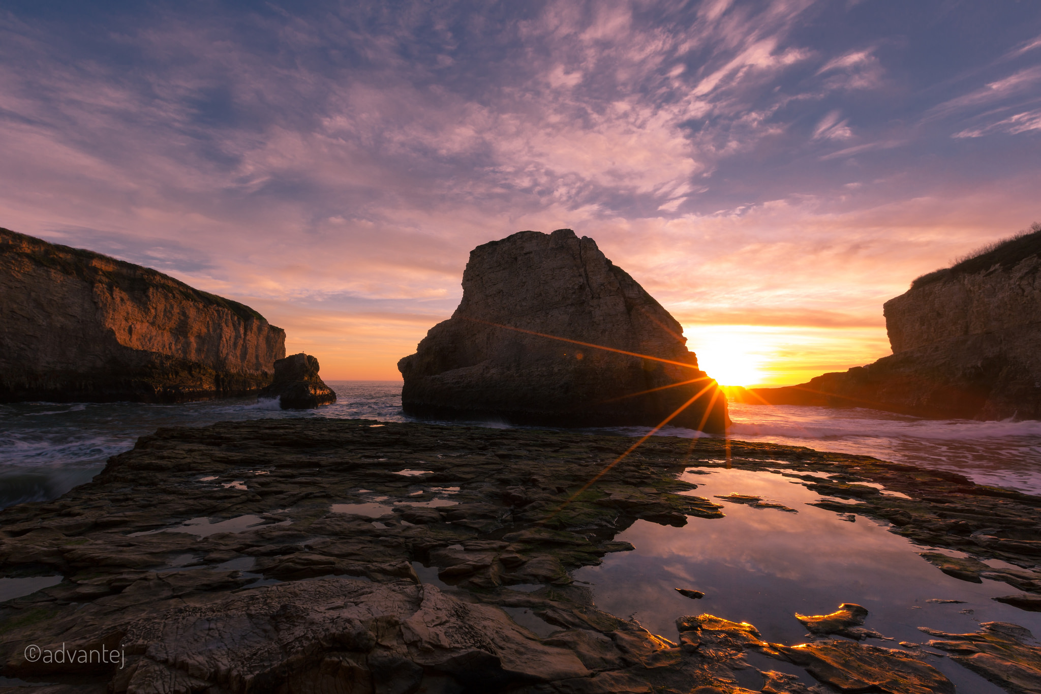 Sunset at Sharkfin cove