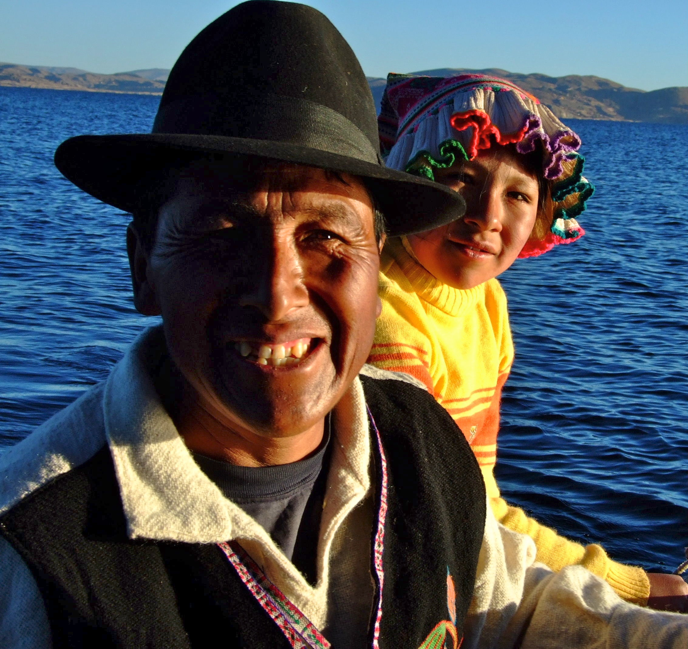 """Lake Titicaca - Papa and Maria out fishing"" / Rachell Rimell"