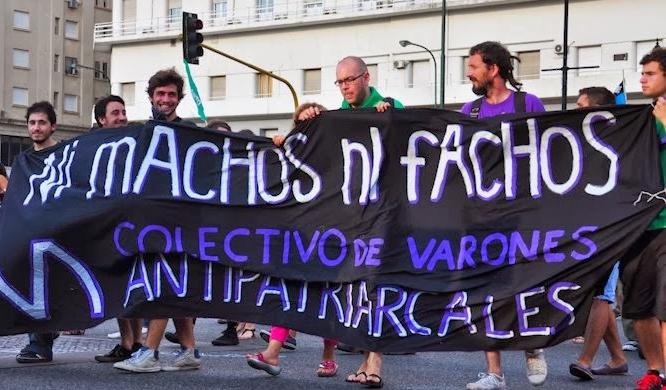 Colectivo de Varones Antipatriarcales , marcha por el 08 de Marzo, Argentina