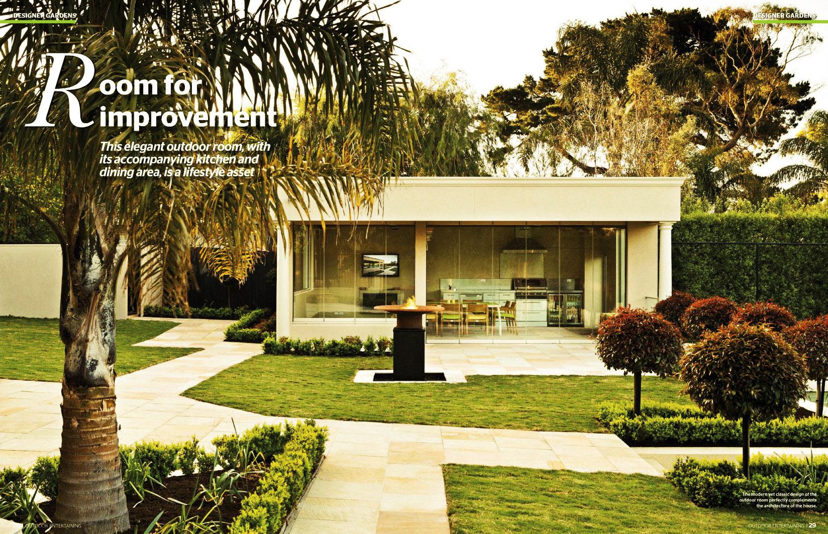 Spread in   Outdoor Entertaining Magazine #6