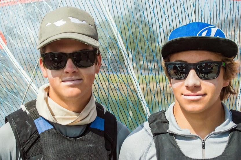 Evan Heffernan (left) and Jacob Rosenberg (right), members of the 29er High Performance Team won the 29er Orange Bowl earning sevenpoints in sixraces.