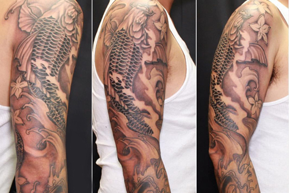 Sleeve tattoo by Vu Tran