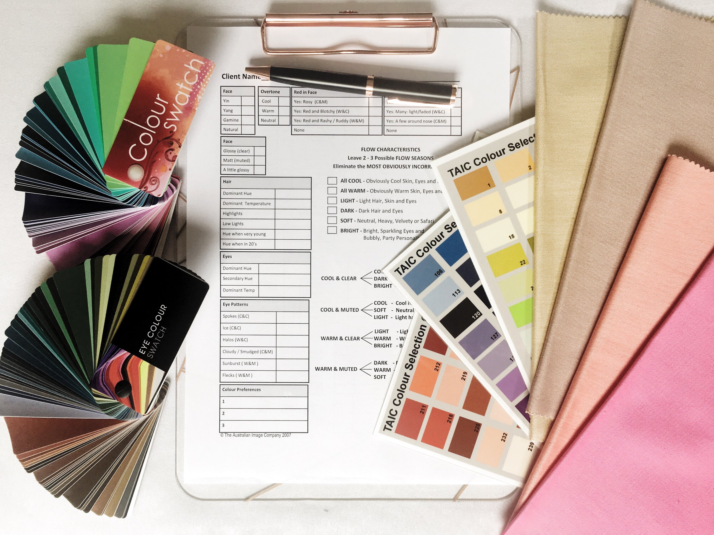 Personal styling colour analysis