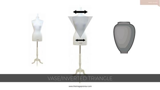 body shape, inverted triangle, vase