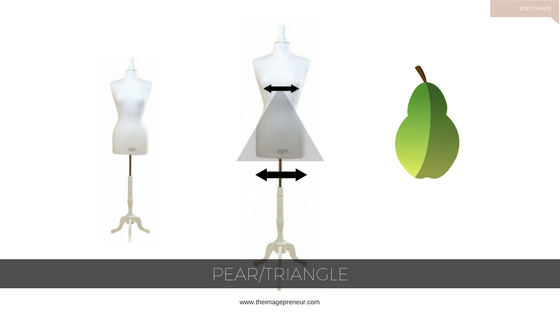 Pear body Shape, clothing style, personal Shopper