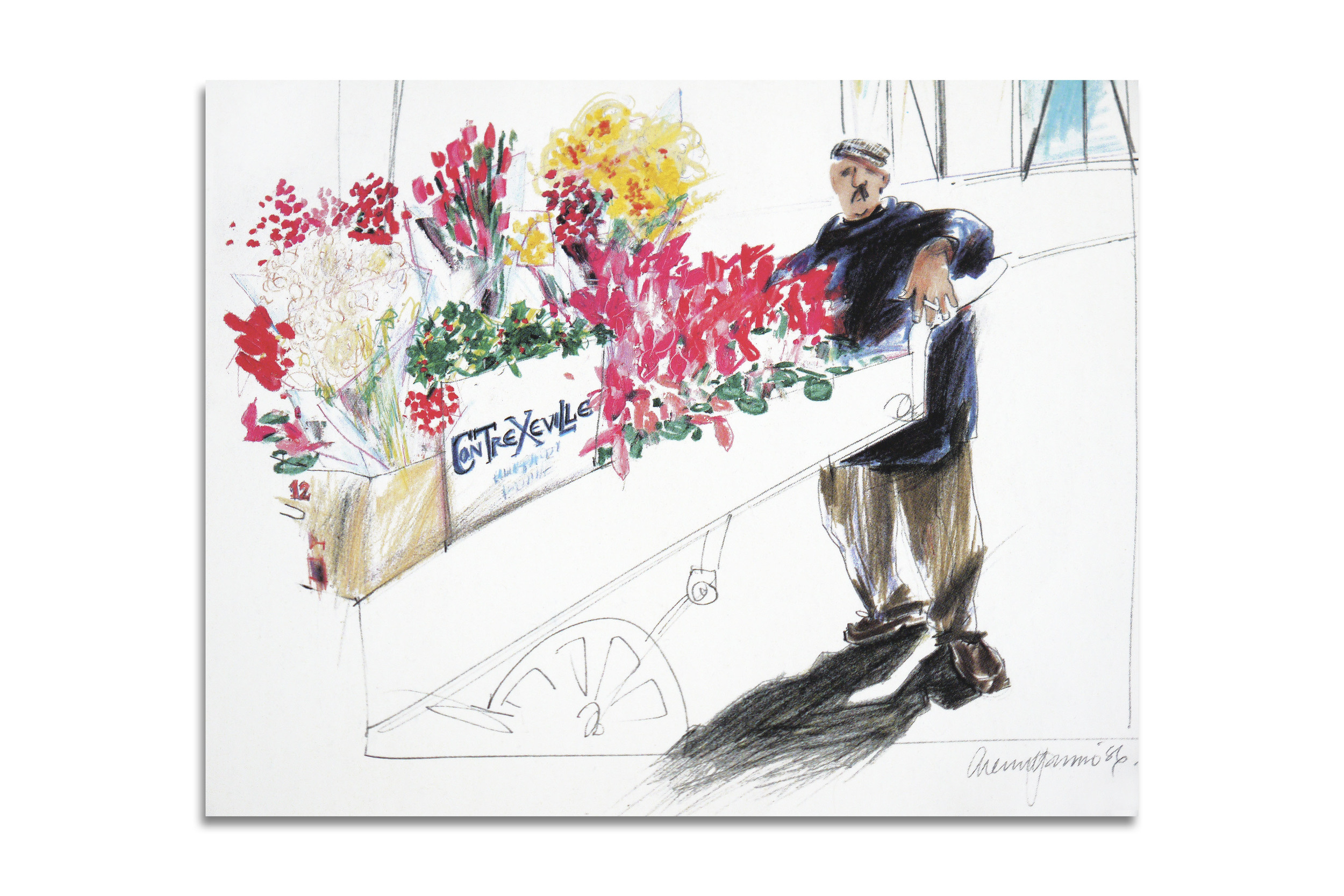 Flower Seller, Paris