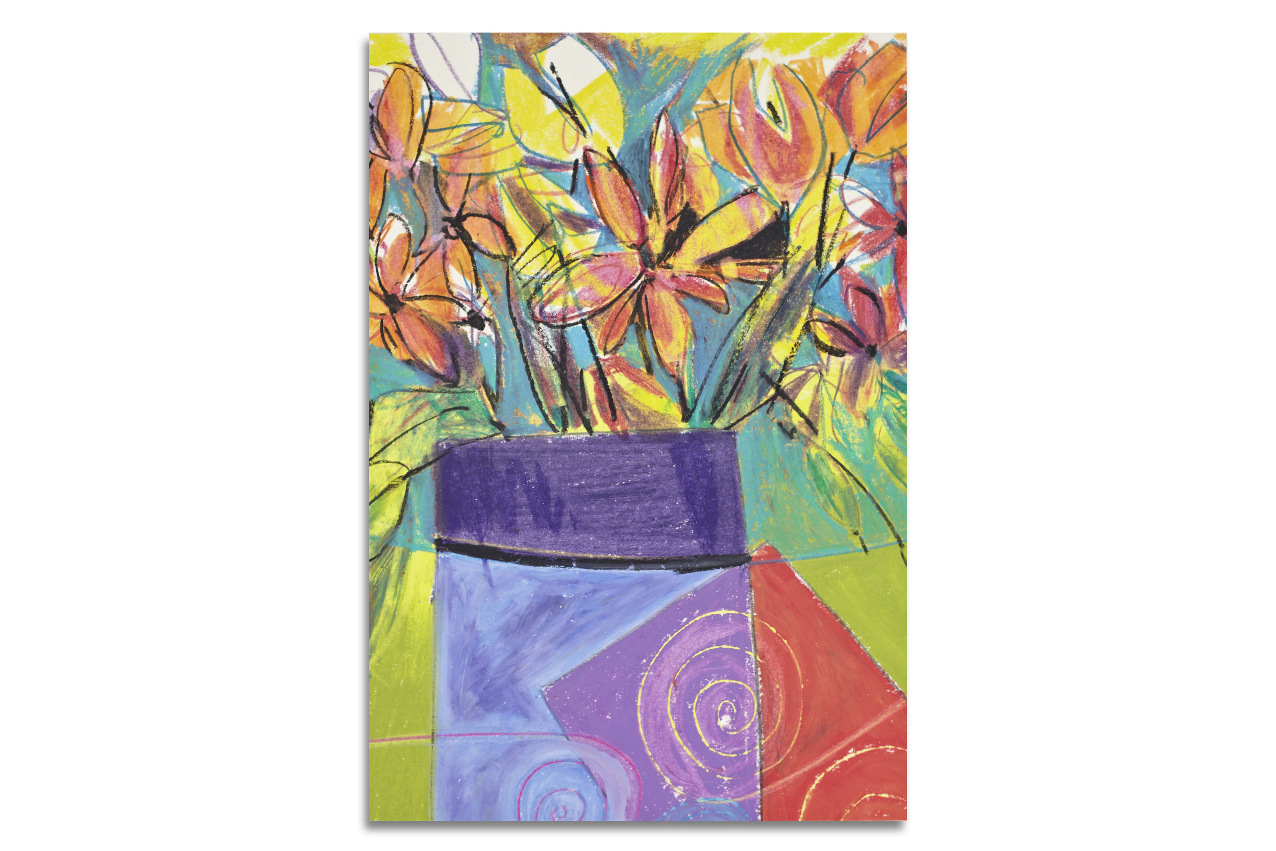 Flowers in Deco Vase