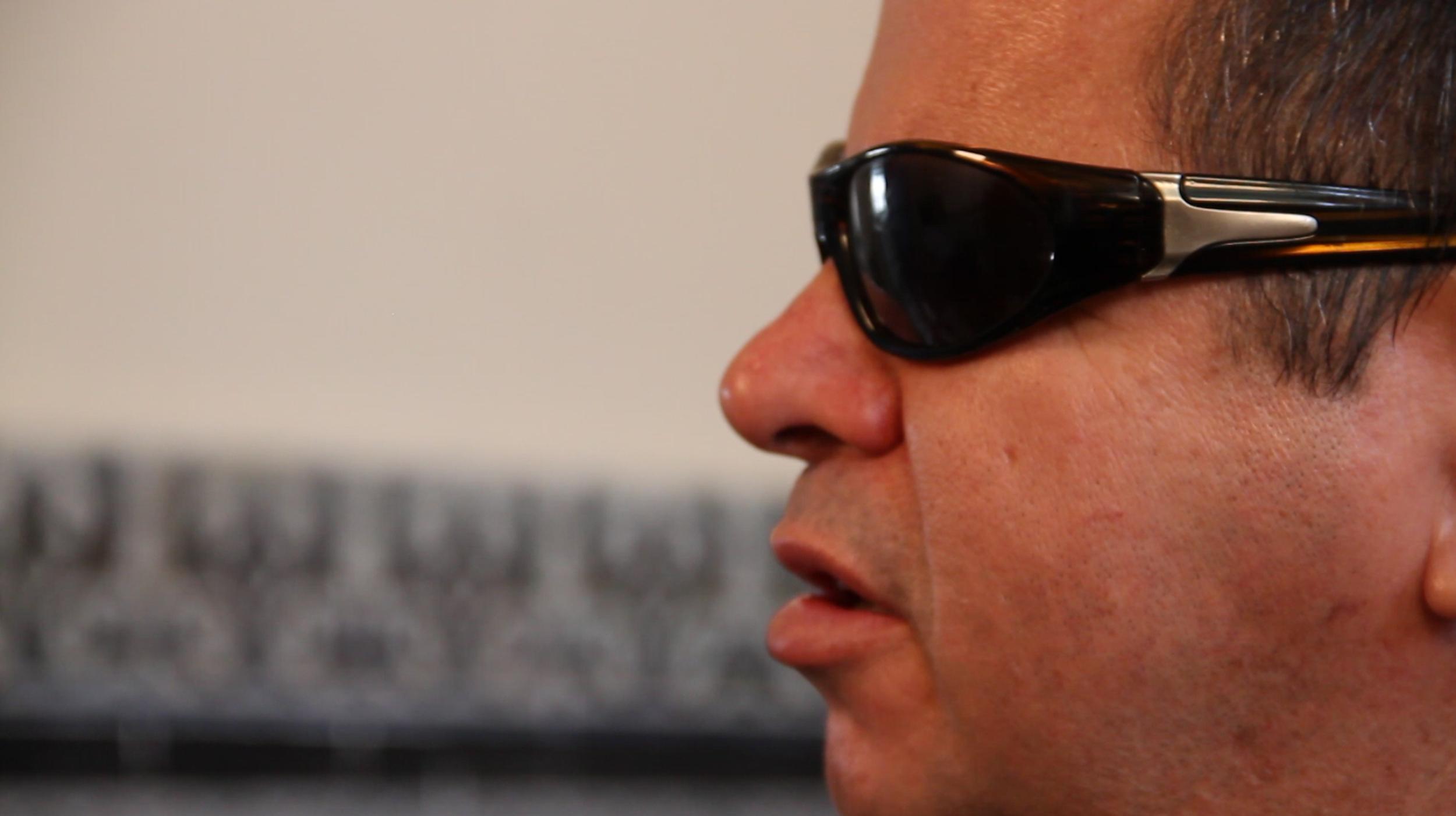 """Juan Carlos González Leiva durante la entrevista con """"Voces de Cuba"""""""