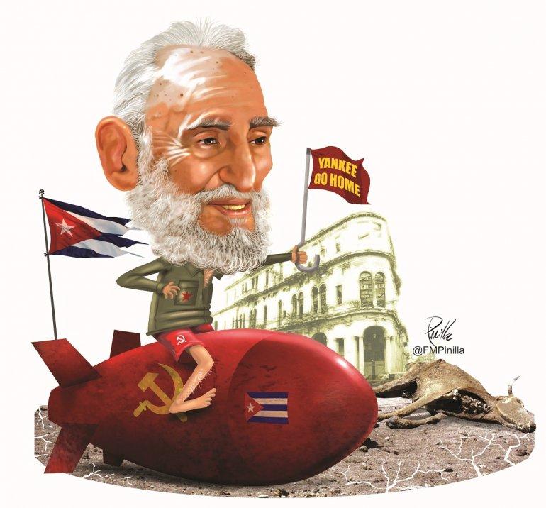 Hay cubanos que siguen atrapados de alguna u otra manera en los laberintos de la deformación y la manipulación histórica de Castro. (Ilustración por Pinilla)