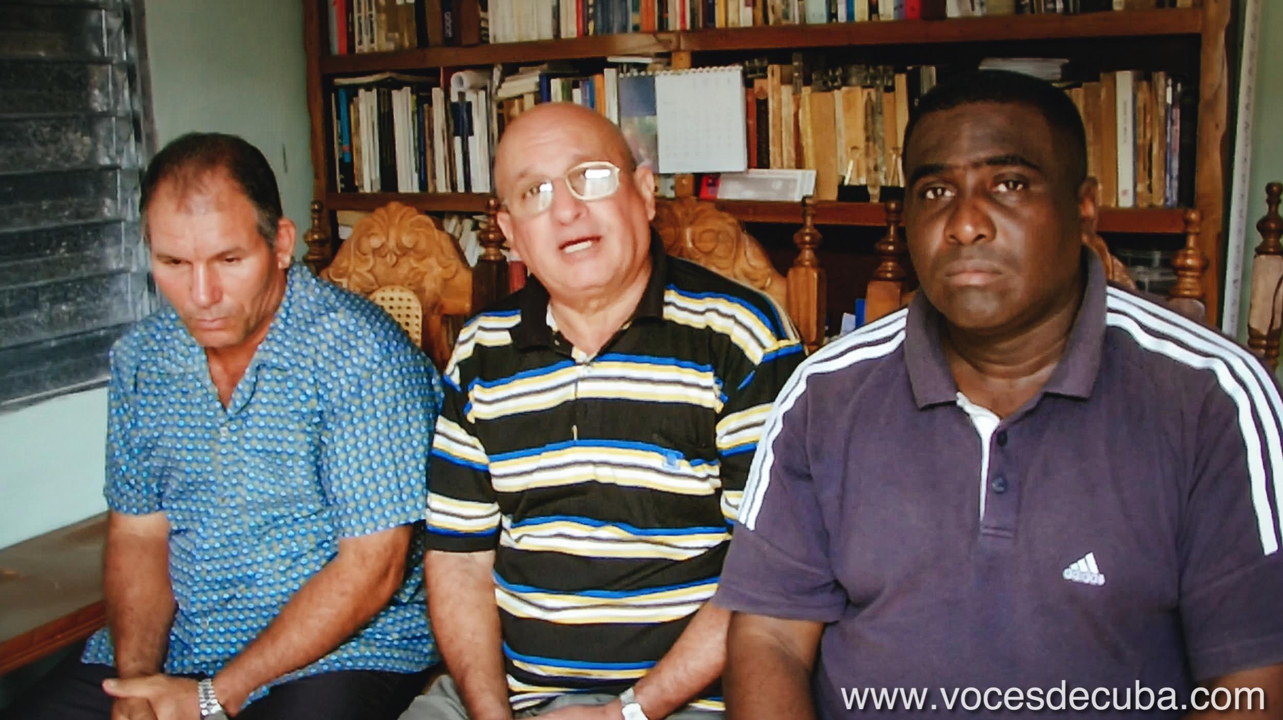 "Rodaje de ""Voces de Cuba"" con Diosdado González, Félix Navarro e Iván Hernández"