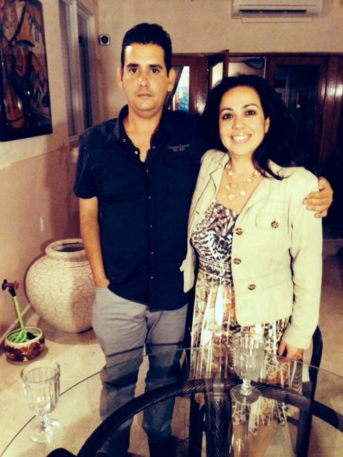 Jeffrey Puente García junto a Janisset Rivero