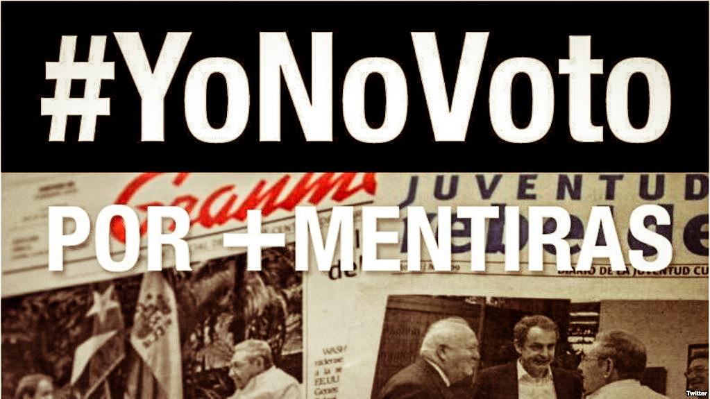 Campaña de Estado de Sats lama a no participar en el referendo constitucional en Cuba.