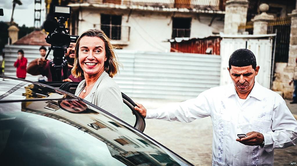 Federica Mogherini en su viaje a Cuba el 4 de enero de 2018.
