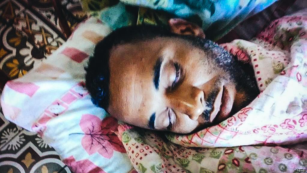 El sacerdote yoruba Alexei Mora Montalvo, en huelga de hambre desde el 15 de enero pasado.