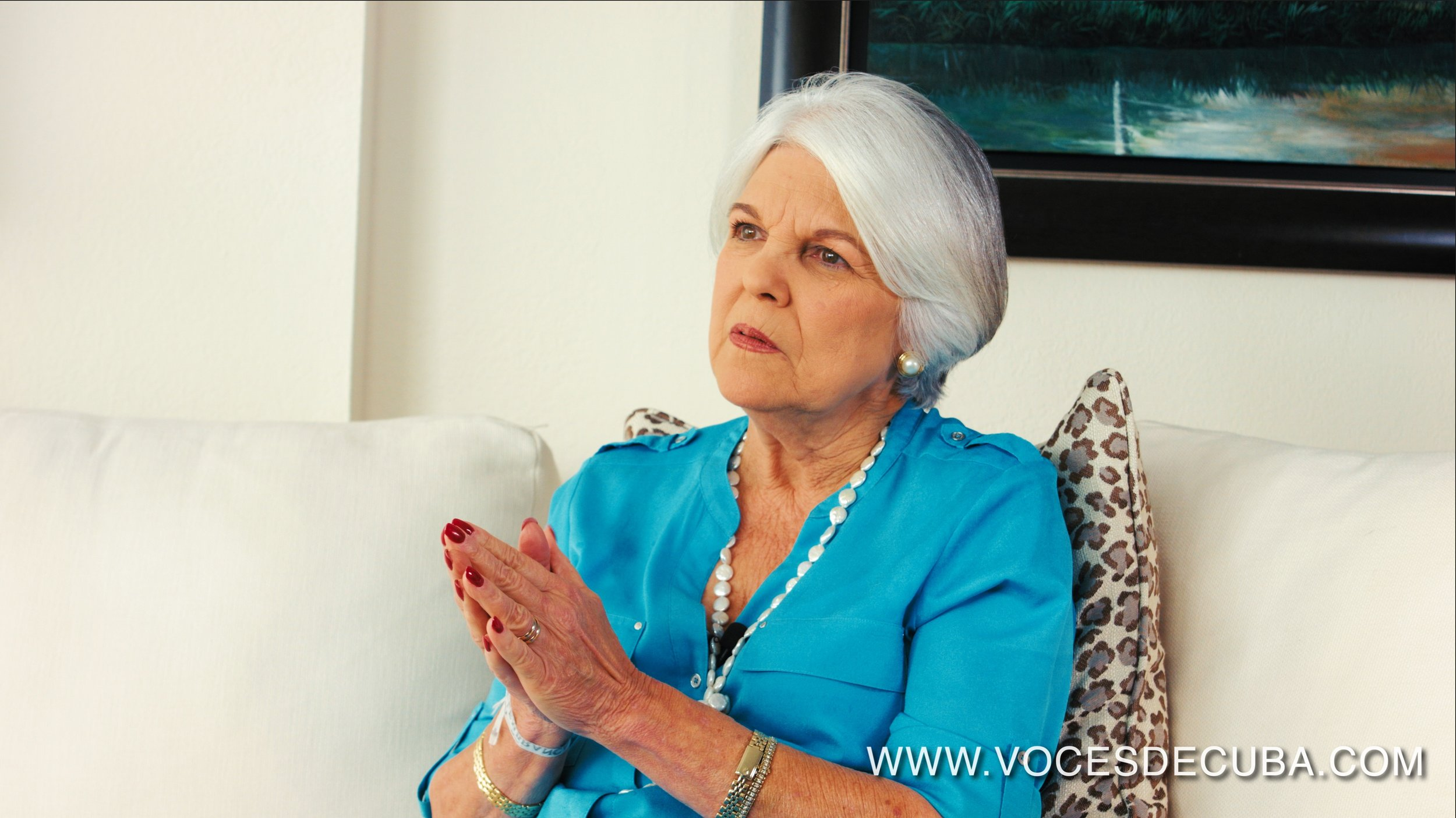 Sylvia Iriondo, líder de la organización M.A.R por Cuba (Mujeres Antirepresión). Foto Archivo Voces de Cuba