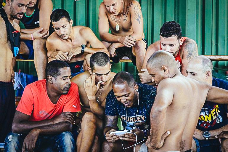 Un grupo de emigrantes cubanos en Costa Rica en enero de 2016. Nicaragua era uno de los países descartados por quienes decidían abandonar la isla (Imagen referencial)EFE/ARCHIVO