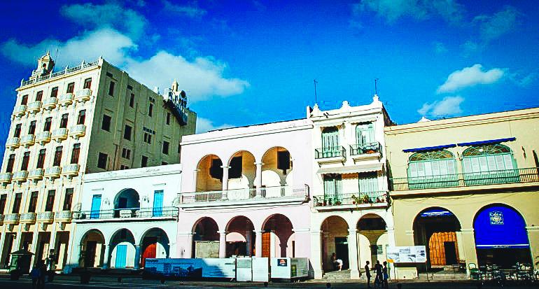 Edificaciones en La Habana.