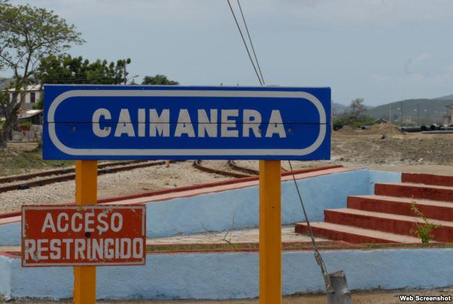 Caimanera, poblado guantanamero en la frontera con la Base Naval de EEUU.
