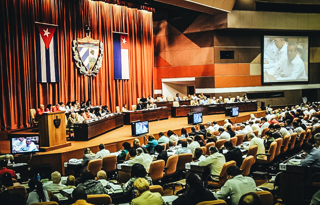 Sesión en la Asamblea Nacional cubana. EFE/Ernesto Mastrascusa ARCHIVO