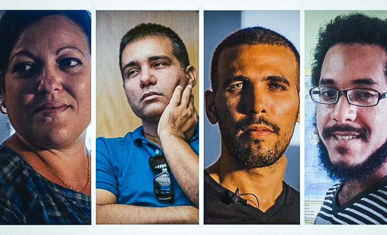 Los cuatro periodistas de DDC- Adriana Zamora, Osmel Ramírez, Manuel Alejandro León y Ernesto Carralero. (DDC)DIARIO DE CUBA