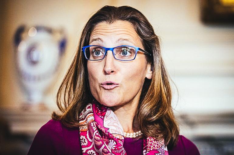 Fotografía de archivo de la ministra de Relaciones Exteriores de Canadá, Chrystia Freeland.EFE/MICHAEL REYNOLDS