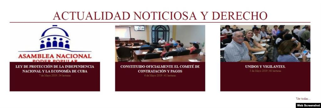 """La ley Mordaza publicada como """"Actualidad Noticiosa""""."""