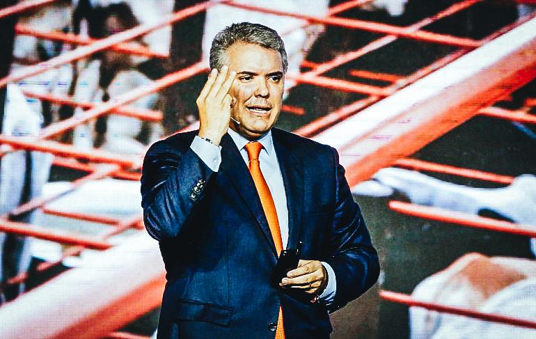 Presidente de Colombia Ivan Duque. EFE/ Leonardo Muñoz