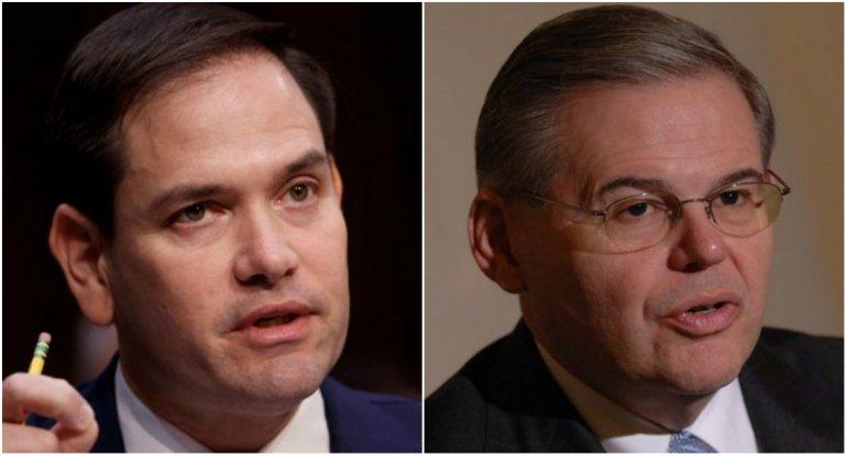 Los senadores Marco Rubio y Bob Menendez. EFE/DLA