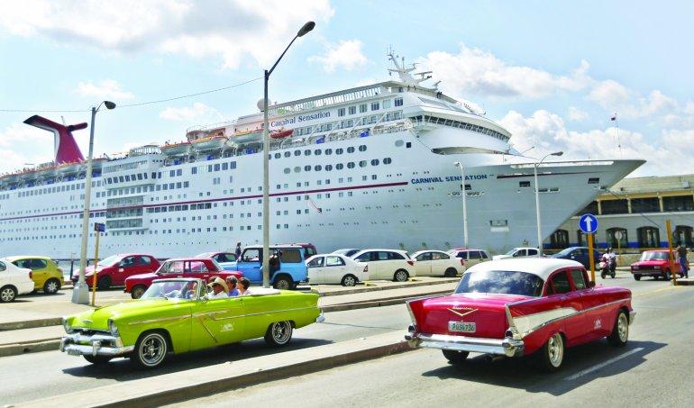 Un crucero en el Puerto de La Habana.EFE