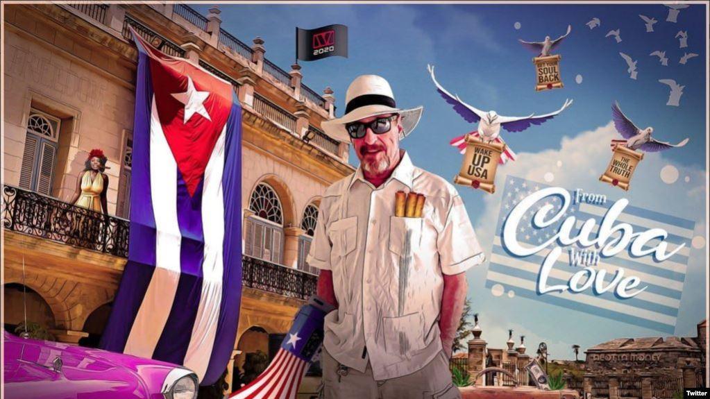 """El pasquín electoral de John McAfee desde su """"exilio"""" en La Habana, según aparece en su cuenta de Twitter..jpg"""