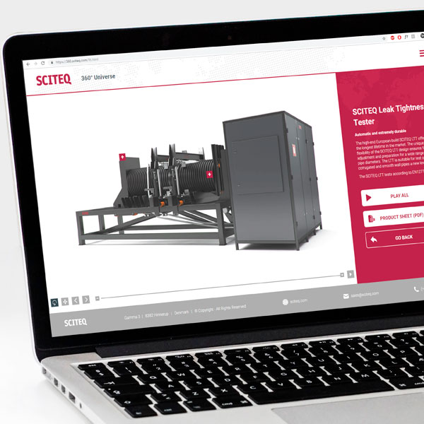 Interaktiv 3D til SCITEQ A/S