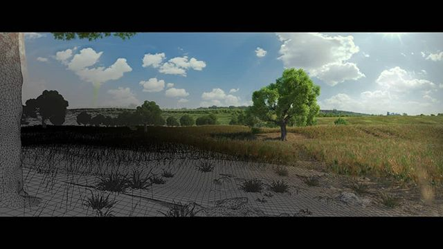 Here a slice of what geometry might look like and how the render (final product) turned out. With 500.000 animated grass/wheat elements, these scenes can get heavy! . . #graphics #graphicsdesign #graphic #cinema4d #aftereffects #ae #c4d #artistic #moody #artist #graphicdesign #motion #motiondesign #motiondesigner #graphicsdesigner #animation #cgartistlab #render_contest #awesome_surreal #renderzone #enter_imagination #visual_creatorz #plsur #howiseedatworld #mgcollective #graphicroozane #graphicgang #instaart #mdcommunity