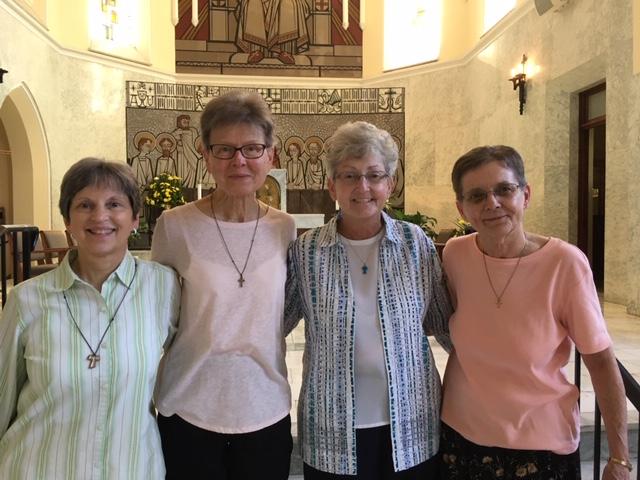 Provincial Council Members left to right: Sr. Teresa Miklitsch, Sr. Alberta Wilkes, Sr. Nancy Zelma and Sr. Sr. Jo-Anne Grabowski (Provincial Minister).