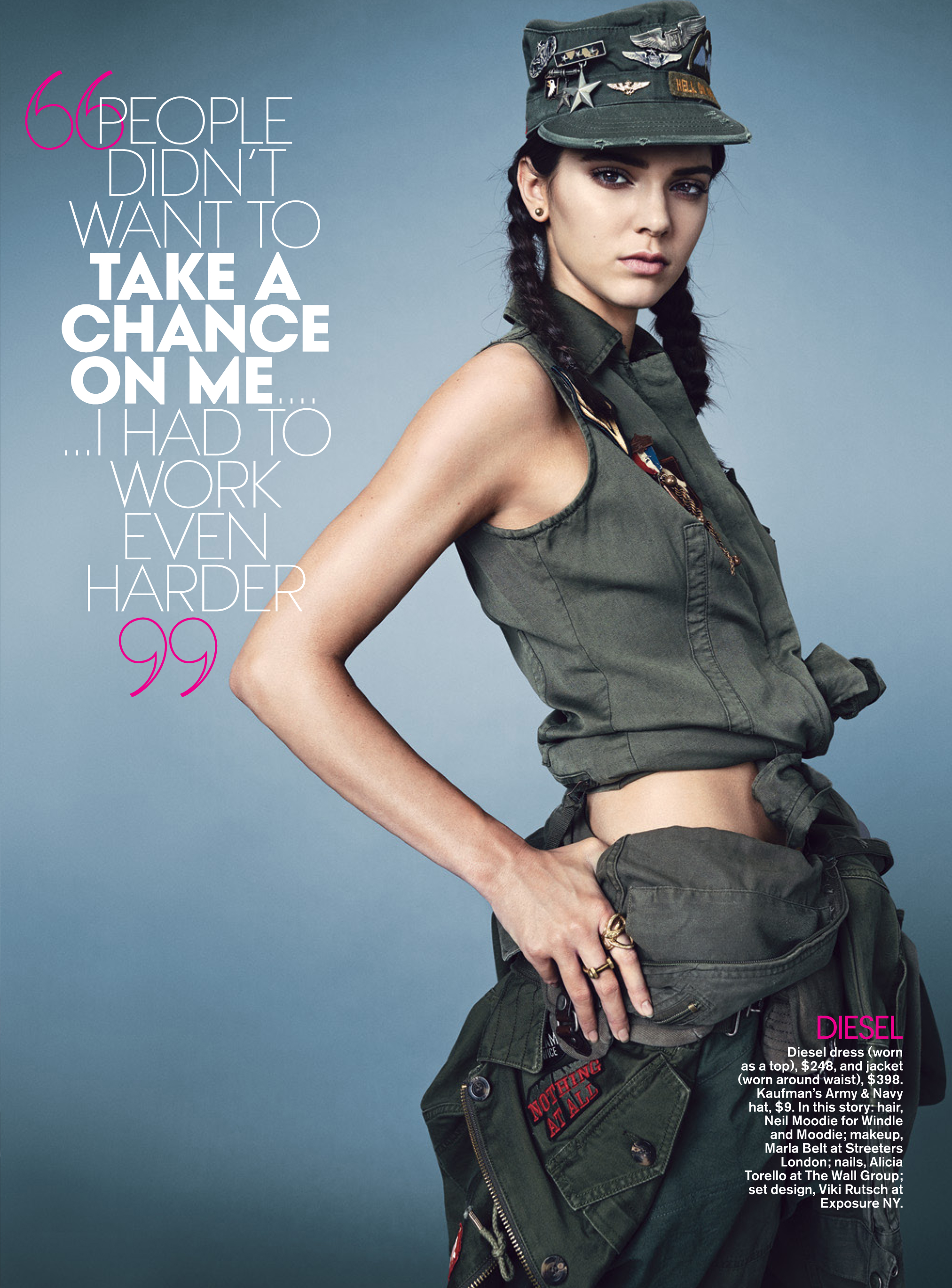 COVER STORY WITH KENDALL JENNER.   TEEN VOGUE, 9/14    Acorn Nut Stud Earrings, Shackle Ring   (middle finger)