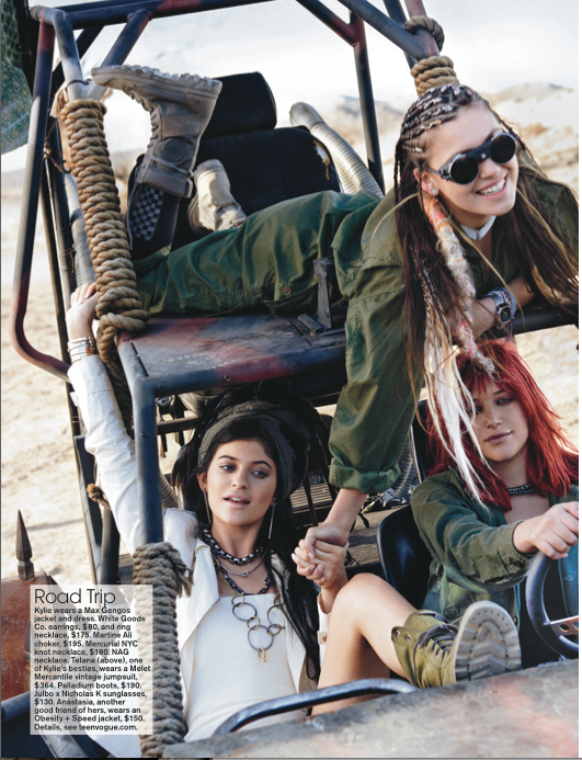 COVER STORY WITH KYLIE JENNER.  TEEN VOGUE, 5/15