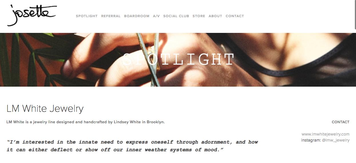 BLOGGER JOSETTE: SPOTLIGHT ARTIST PROFILE