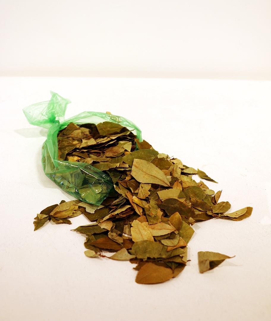 The War On Drugs  2019 Bag of coca leaves. © Tom Herck