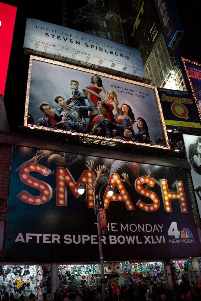 Smash print ad (Time Square)