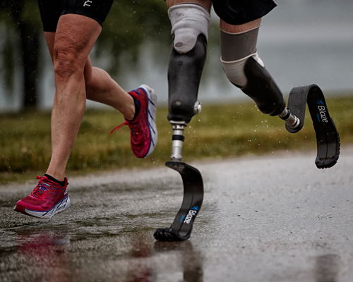 5 - Athletes missing a lower limb ran for the first time