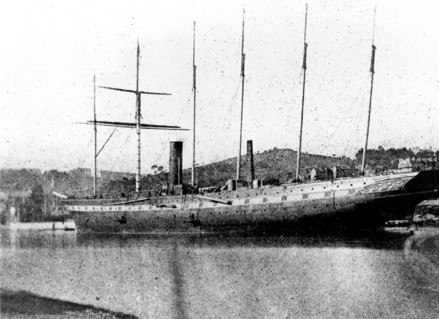 SS  Great Britain  fitting out alongside Gasworks quay in Bristol Floating Harbour, April 1844. This photograph of  Great Britain  taken by pioneering photographer William Henry Fox Talbot is not only the first taken of  Great Britain , but is also believed to be the first photograph ever taken of a ship.