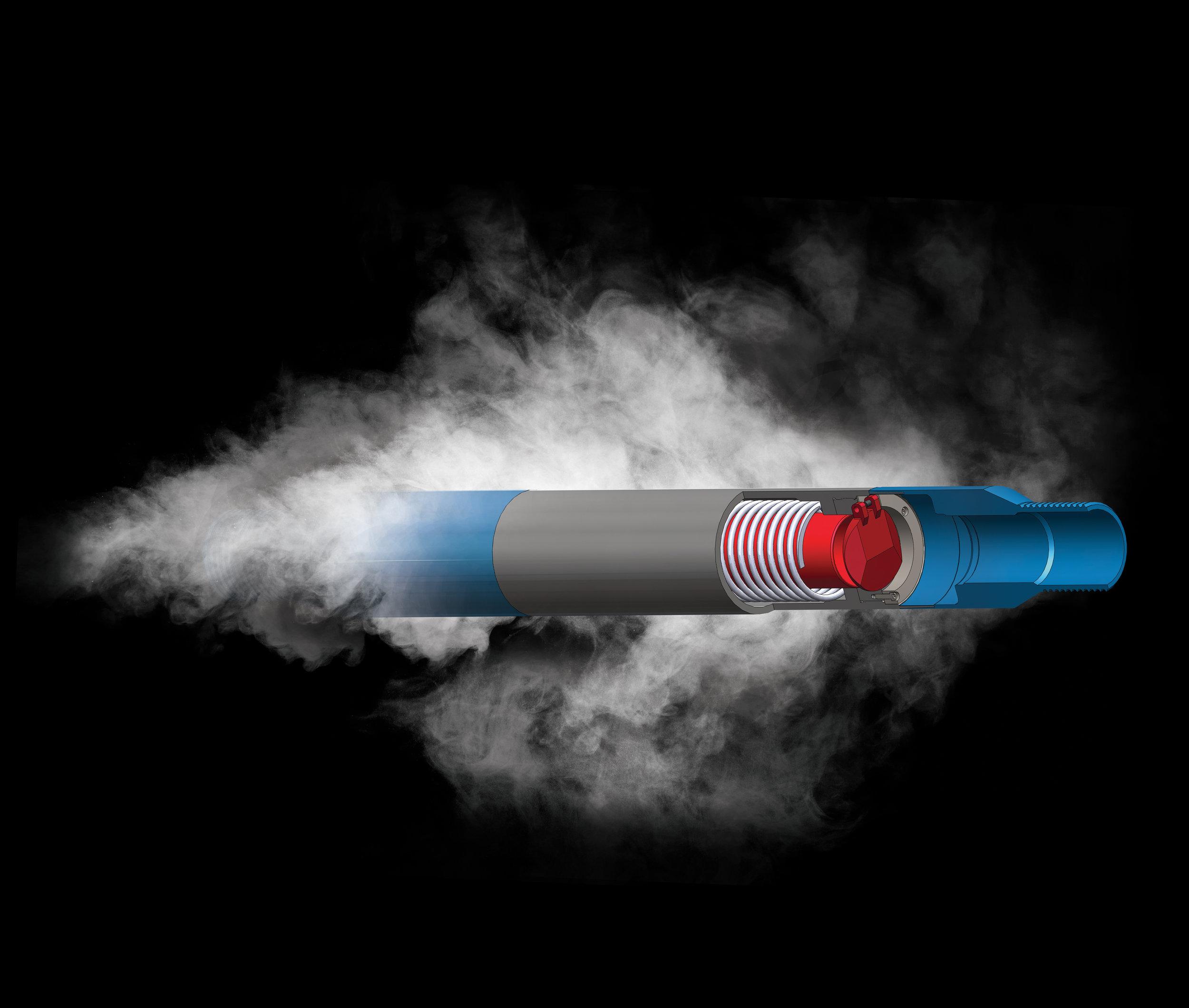 Conceptual illustration of Pragma's Downhole Steam Injection Valve