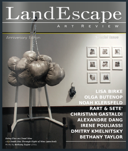 LandEscape Art Review   , Special Anniversary edition 2015, (cover image) and personal interview by curators Dario Rutugliano and Josh Ryder, released July 17, 2015.