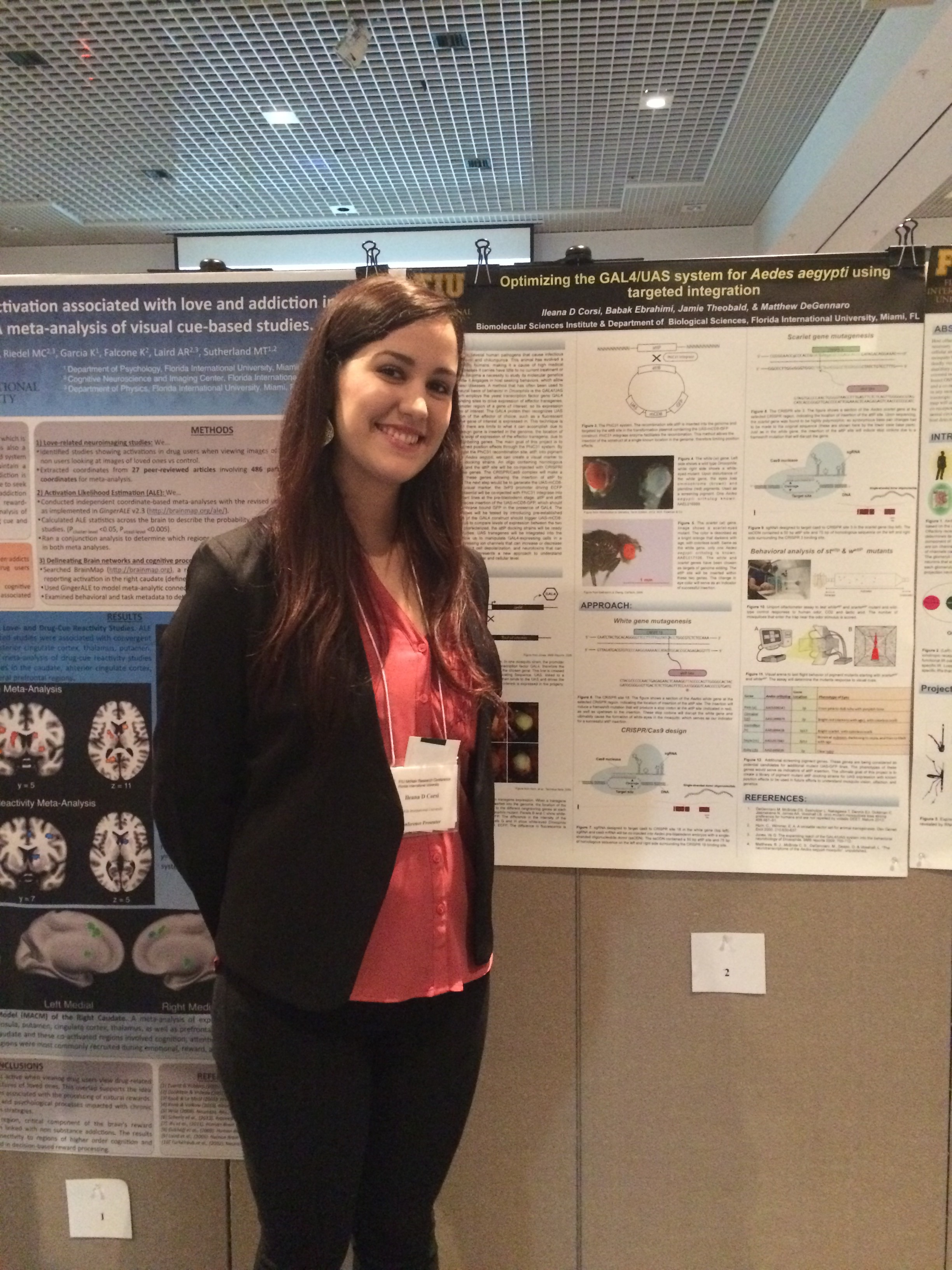 Ileana at her poster