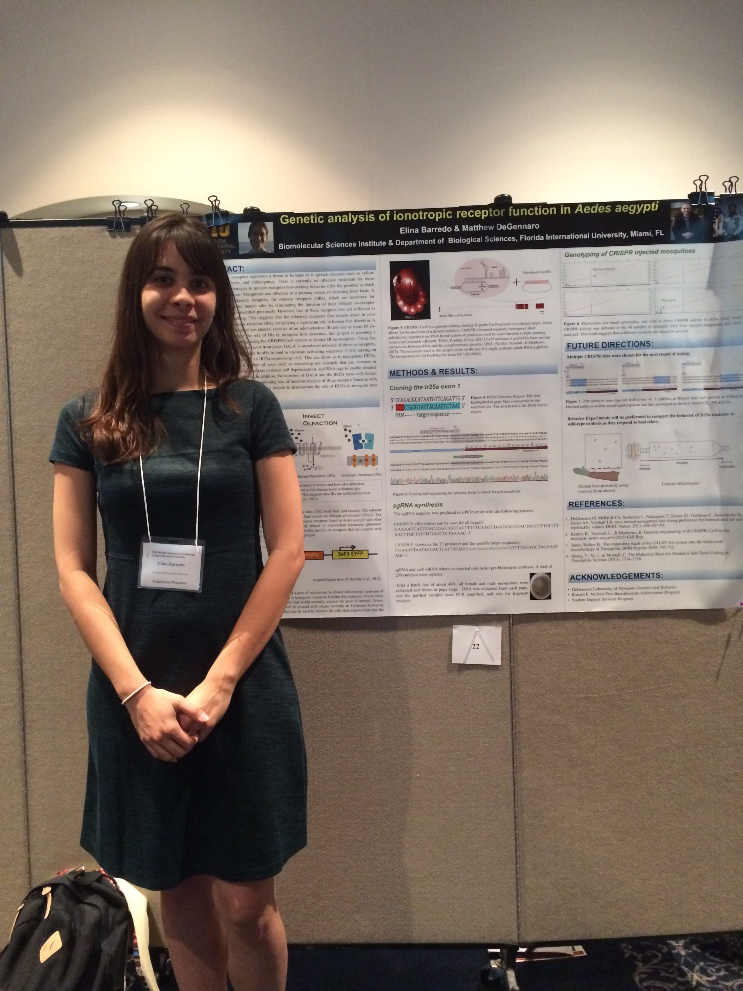 Elina presenting her poster