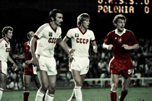 USSR vs. Poland, Camp Nou, Barcelona, in 1982