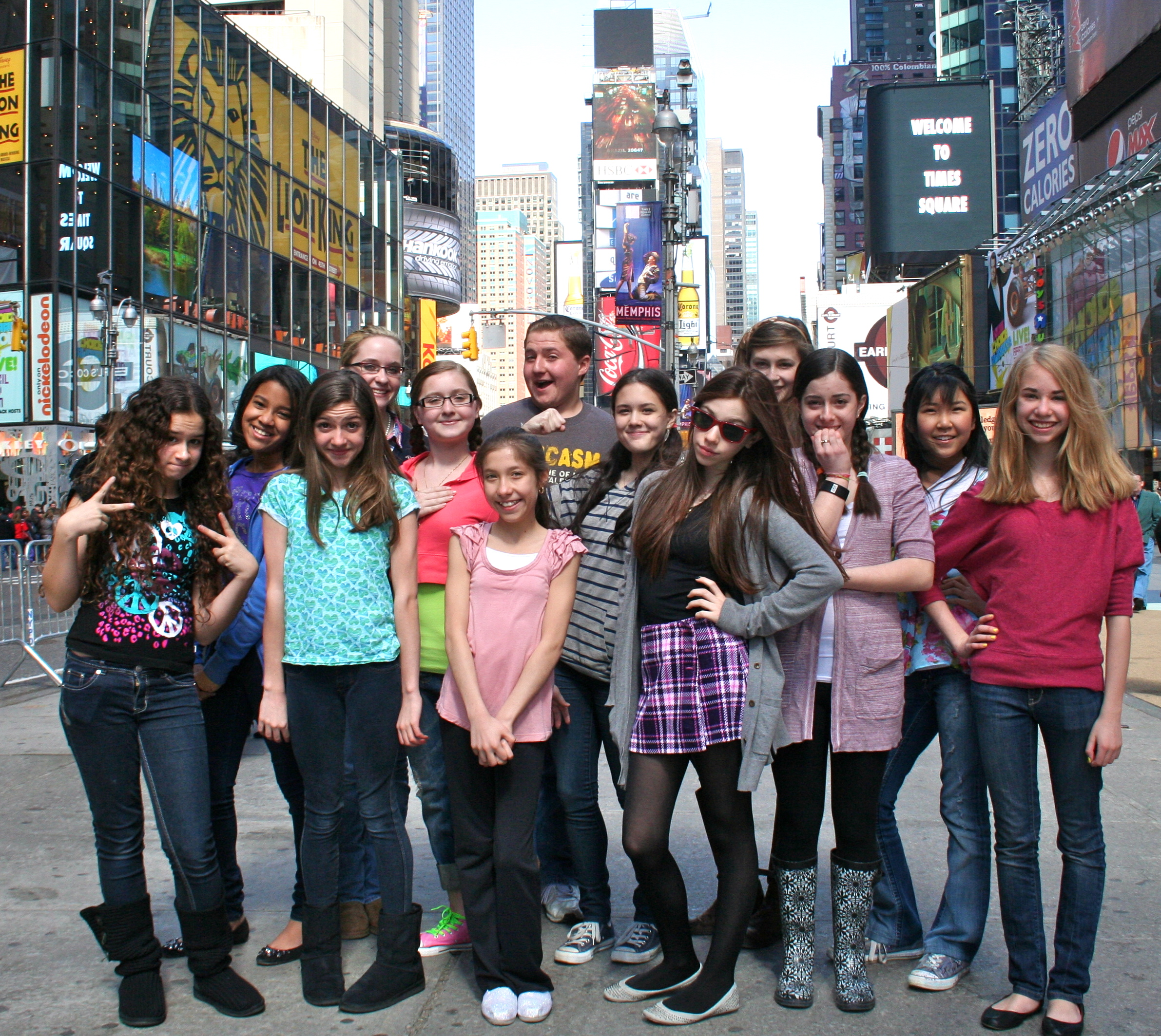 The 2011 cast of Helen on 86th St. in Times Square