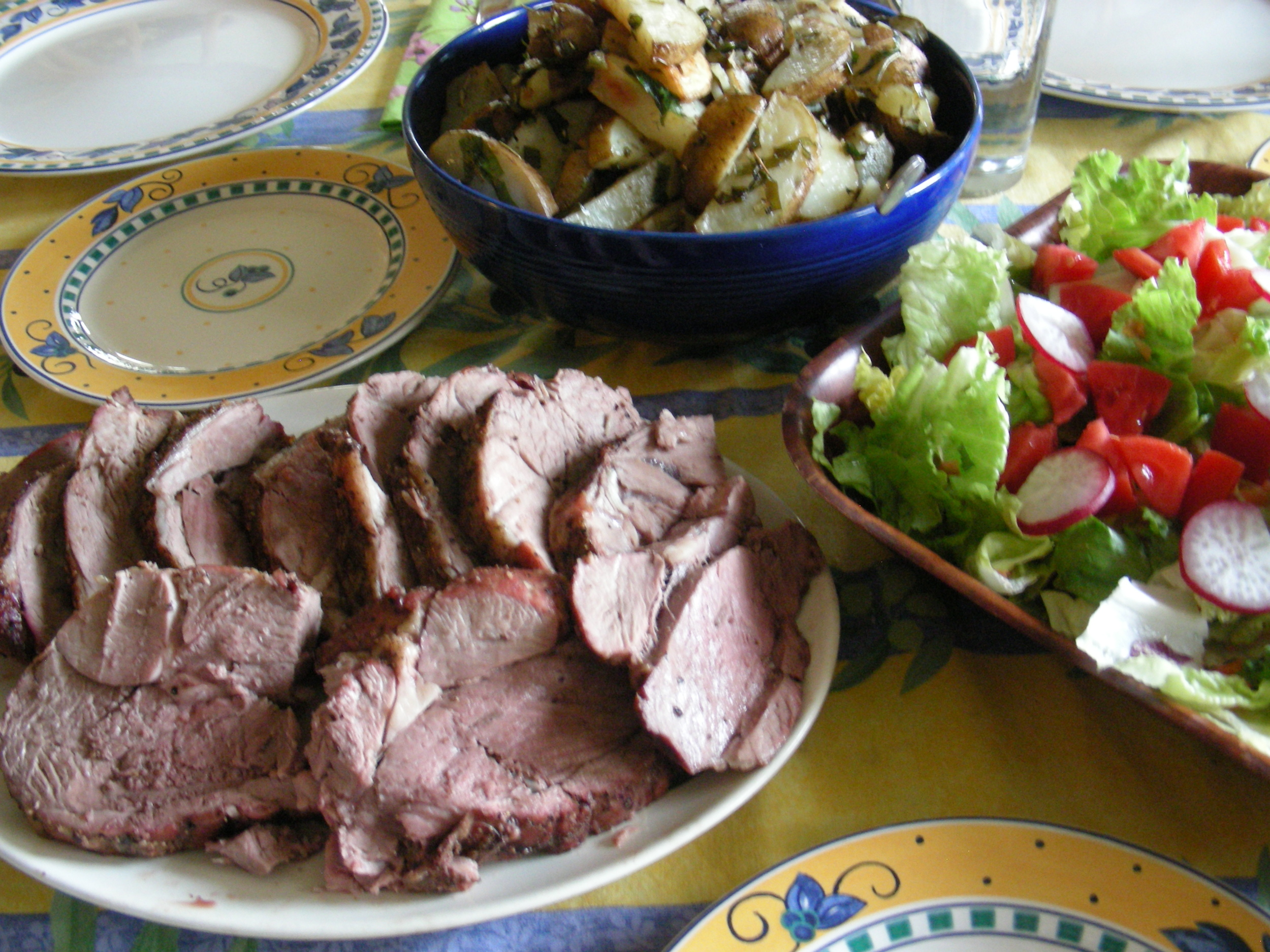Serve paired with some roasted ramp potatoes and salad for a wonderful dinner!