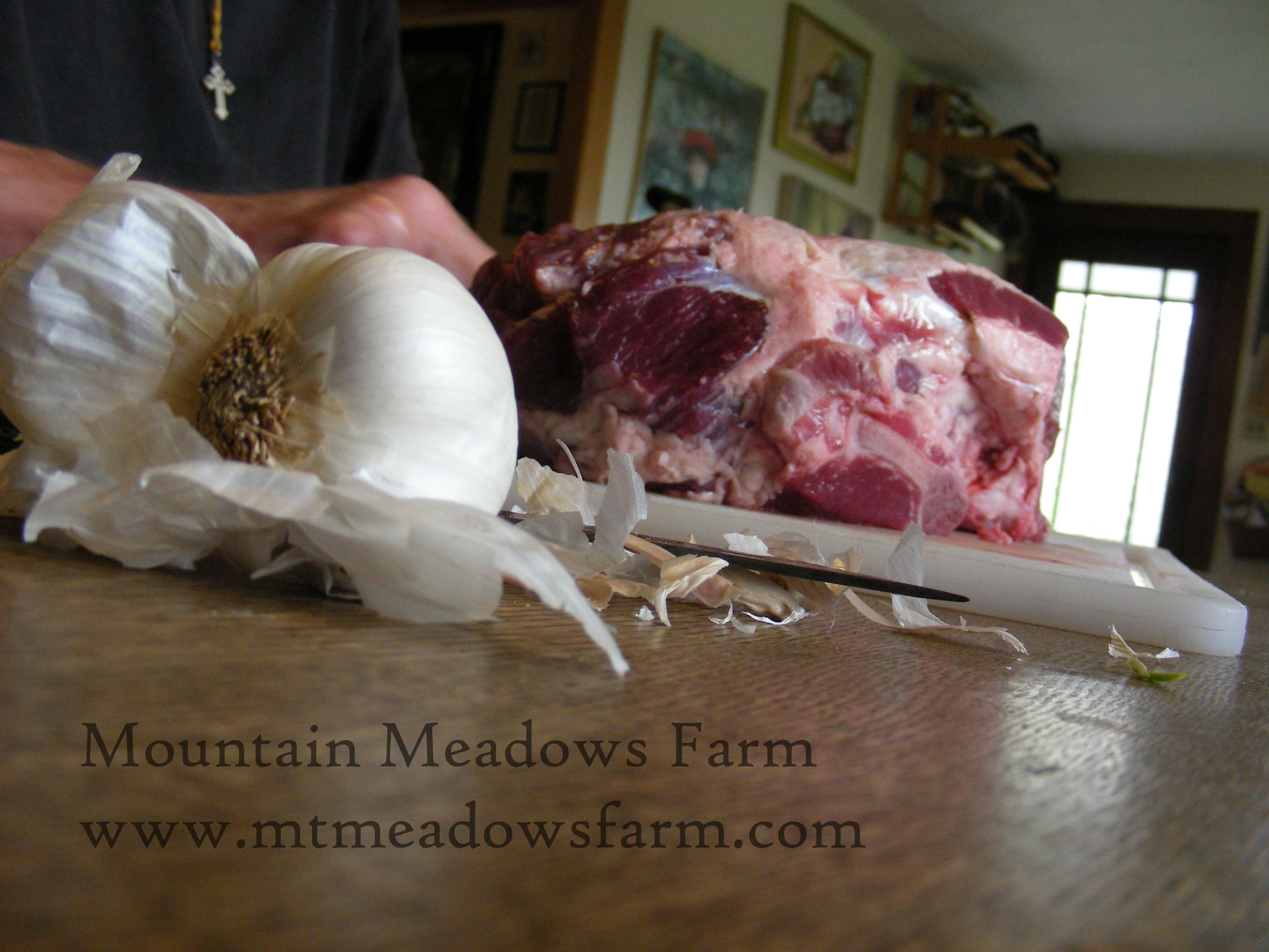 Prep the garlic before you start so that you don't cross-contaminate!