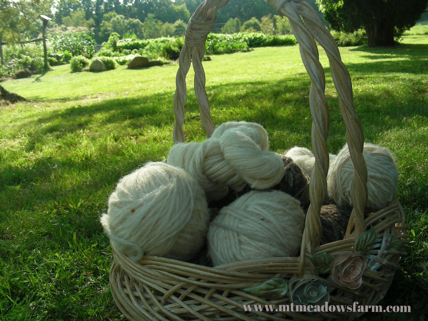 Liz's wool yarn that she spun back in the day!